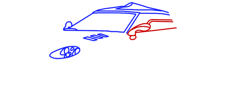 Learn easy to draw Spyker C8 step 05
