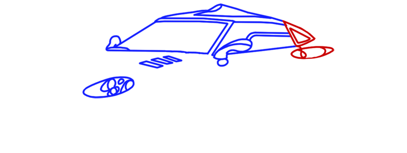 Learn easy to draw Spyker C8 step 06