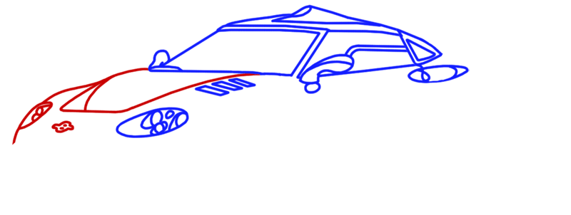 Learn easy to draw Spyker C8 step 07