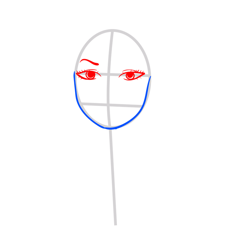 Learn easy to draw Taylor Swift step 03