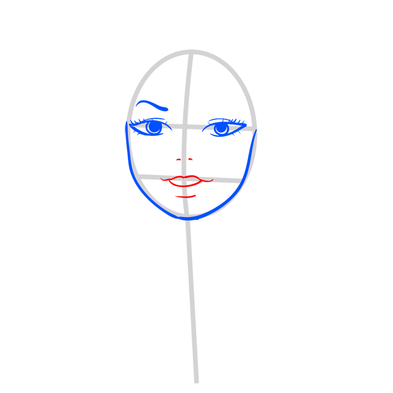 Learn easy to draw Taylor Swift step 04
