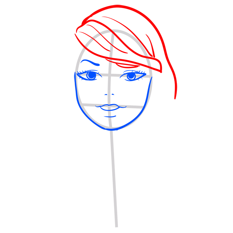 Learn easy to draw Taylor Swift step 05