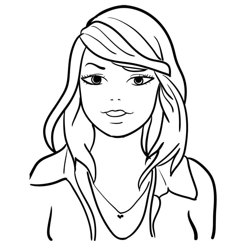Learn easy to draw Taylor Swift step 10