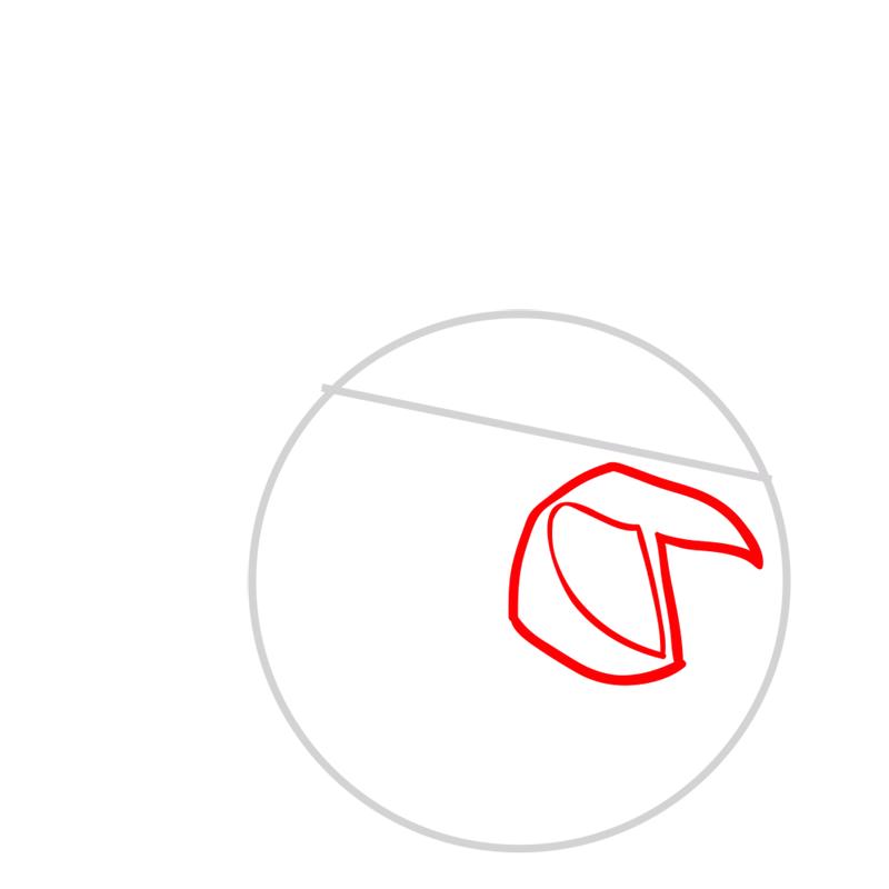 Learn easy to draw The Santa Bomb Bird step 02