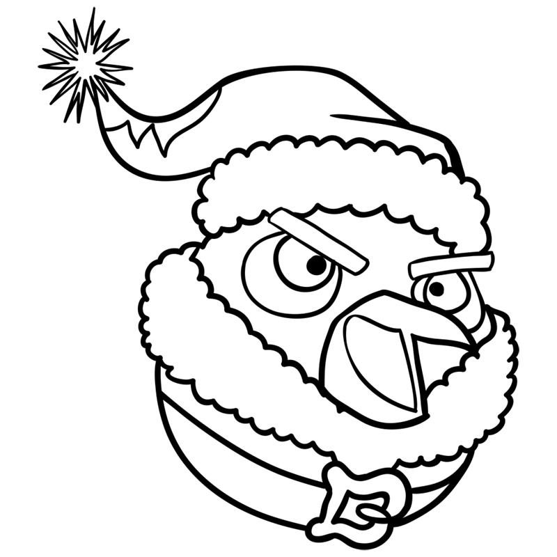 Learn easy to draw The Santa Bomb Bird step 08