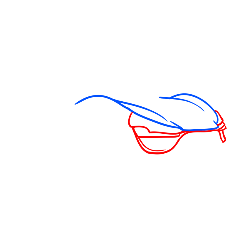 Learn easy to draw Trion Nemesis step 02