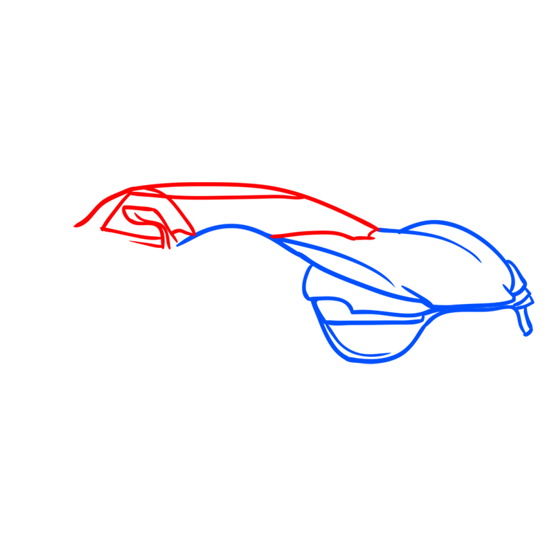 Learn easy to draw Trion Nemesis step 03