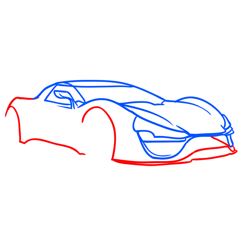 Learn easy to draw Trion Nemesis step 04