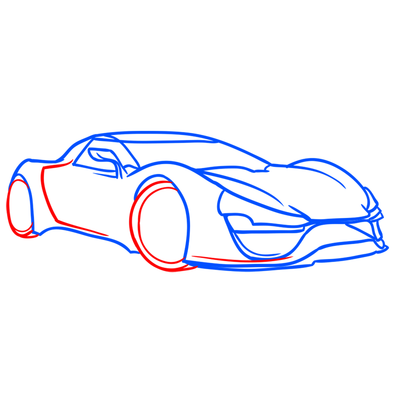 Learn easy to draw Trion Nemesis step 05
