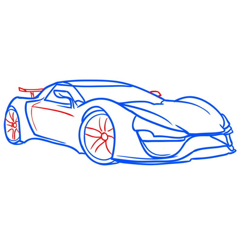 Learn easy to draw Trion Nemesis step 06