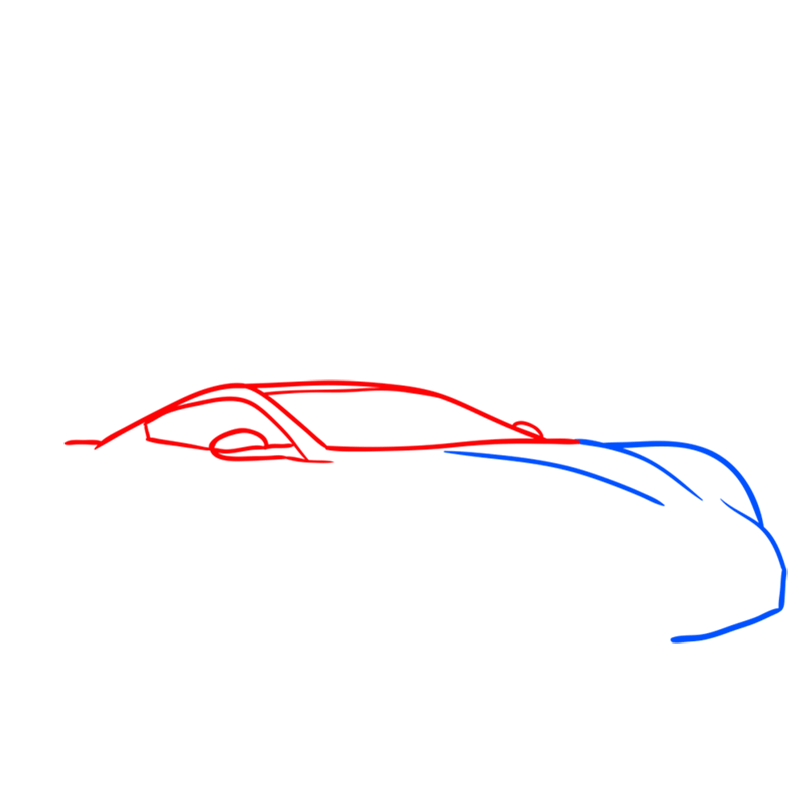 Learn easy to draw Zenvo ST1 step 02