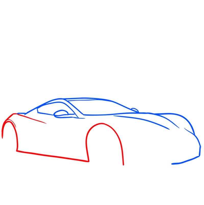 Learn easy to draw Zenvo ST1 step 03