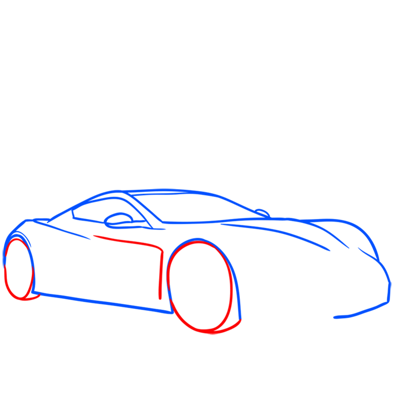 Learn easy to draw Zenvo ST1 step 04