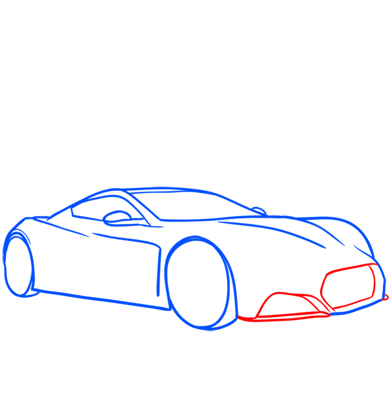 Learn easy to draw Zenvo ST1 step 05