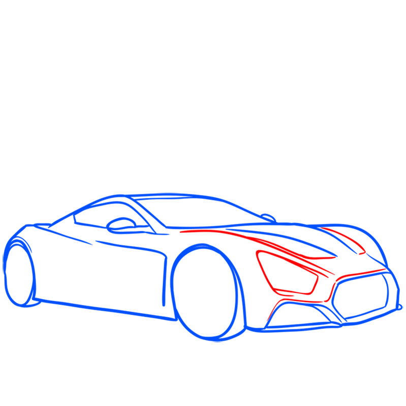 Learn easy to draw Zenvo ST1 step 06