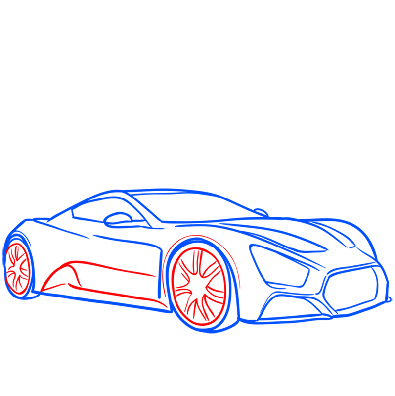 Learn easy to draw Zenvo ST1 step 07
