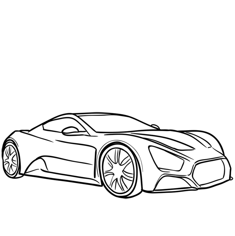 Learn easy to draw Zenvo ST1 step 08