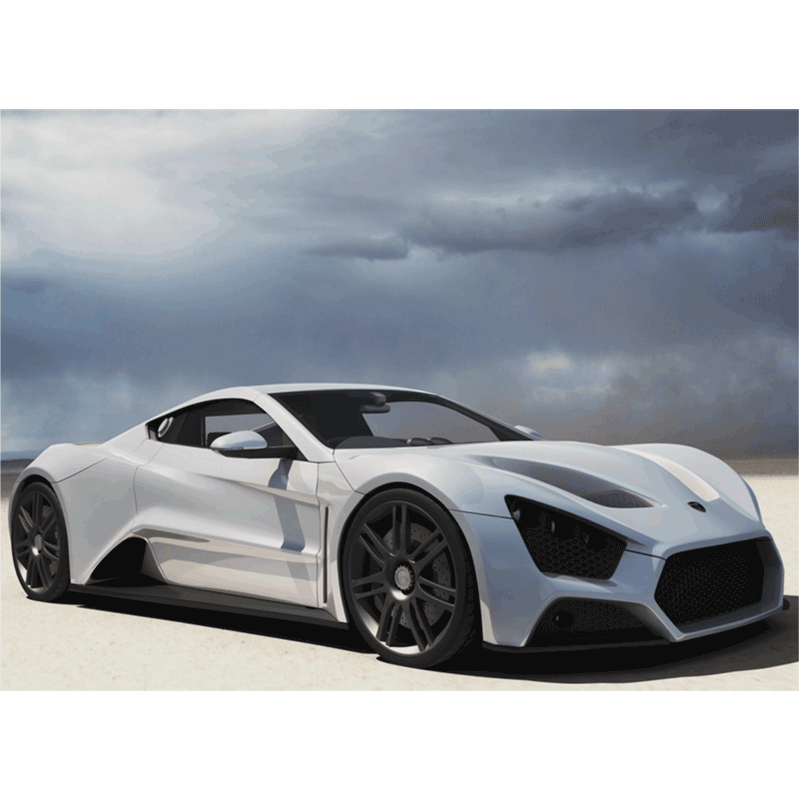 Learn easy to draw Zenvo ST1 step 09