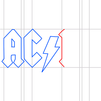 Learn easy to draw ac dc step 10