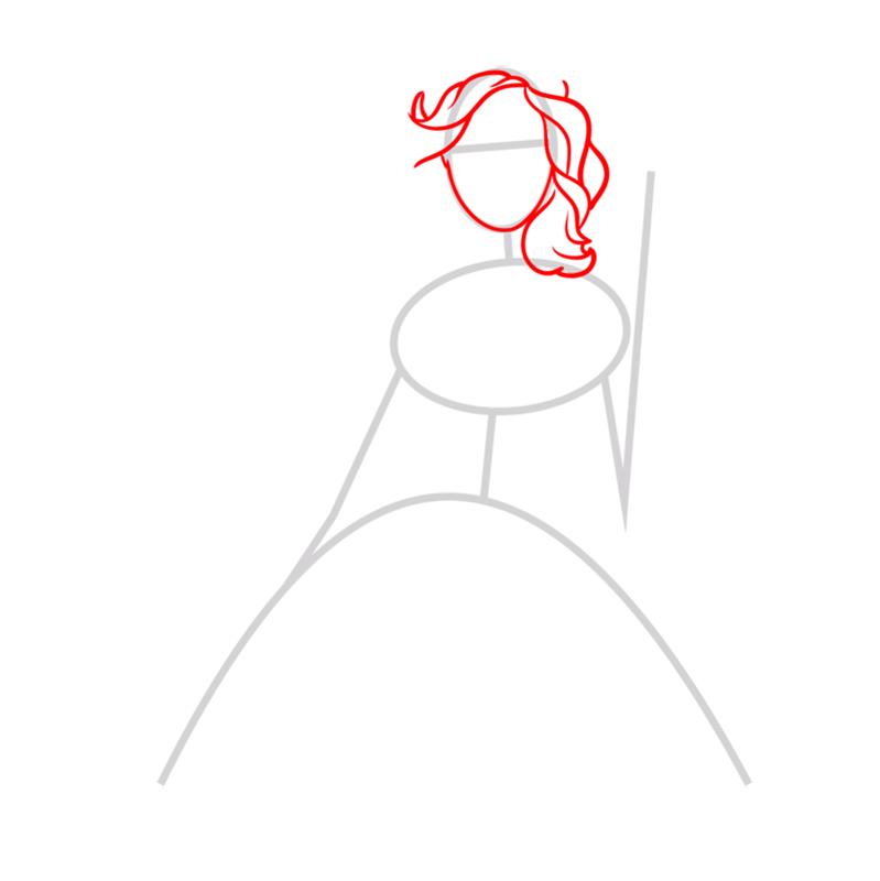 Learn easy to draw alexa step 02