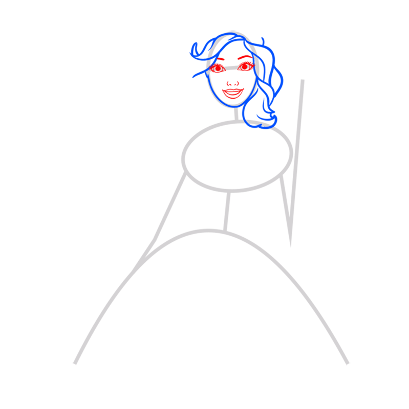 Learn easy to draw alexa step 03