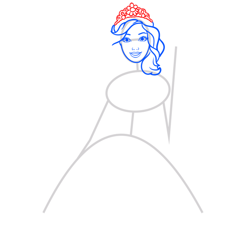 Learn easy to draw alexa step 04