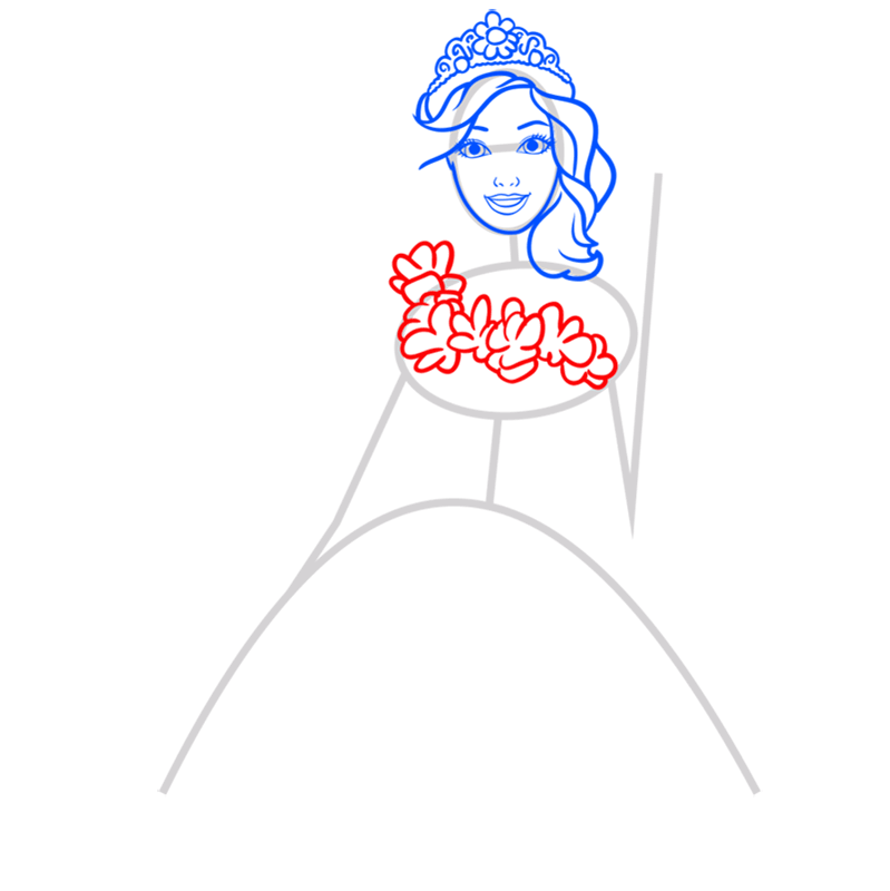 Learn easy to draw alexa step 05