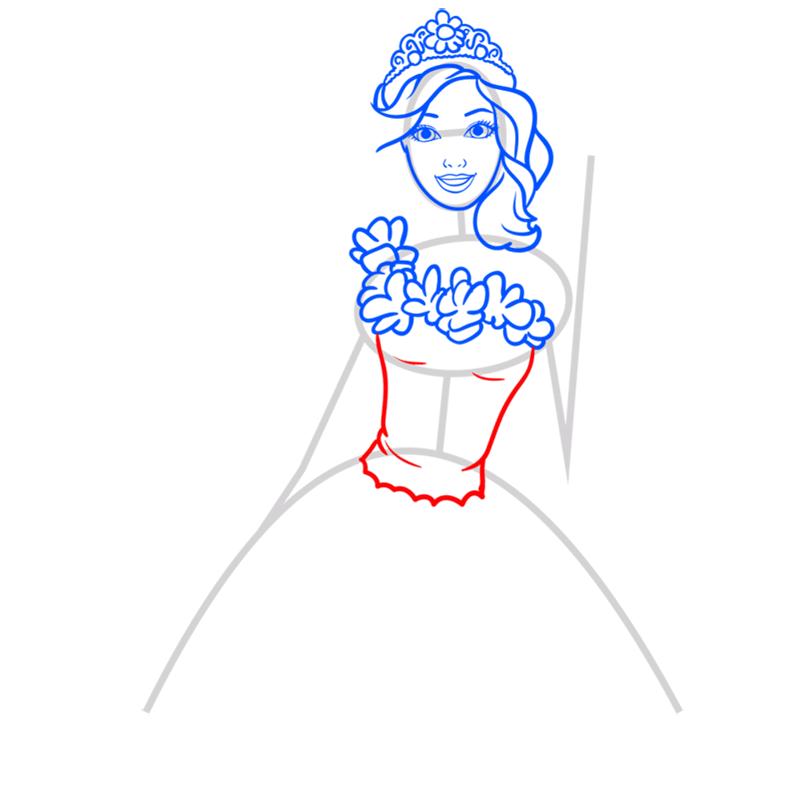 Learn easy to draw alexa step 06