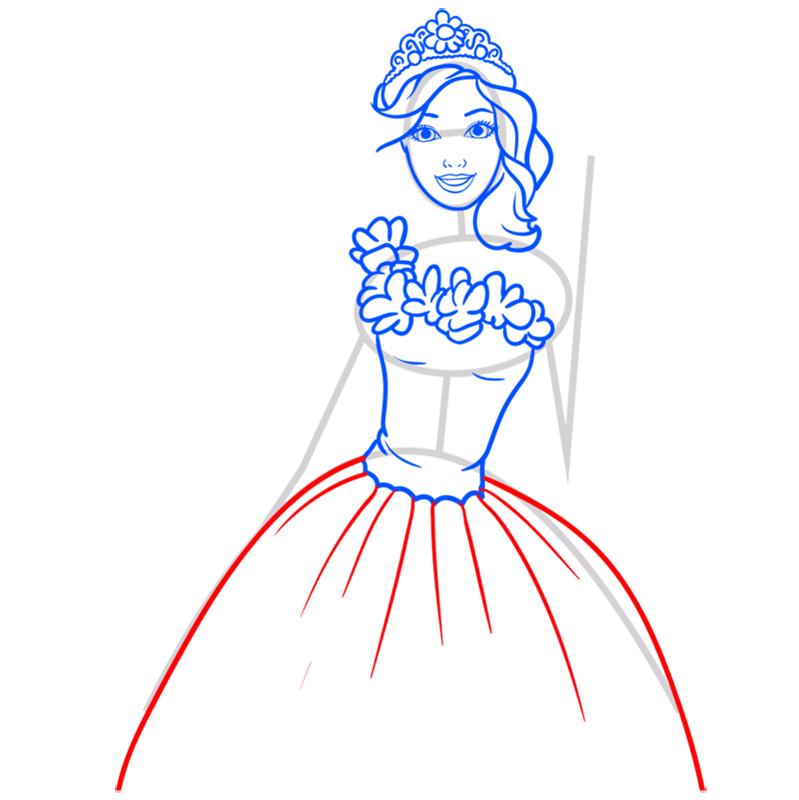 Learn easy to draw alexa step 07