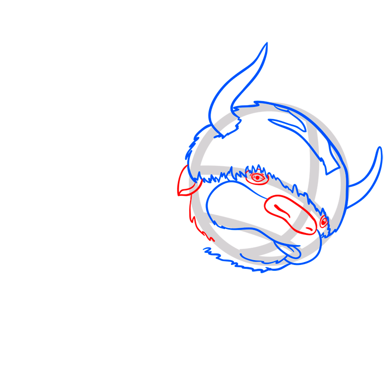 Learn easy to draw appa step 05