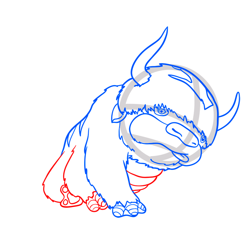Learn easy to draw appa step 07
