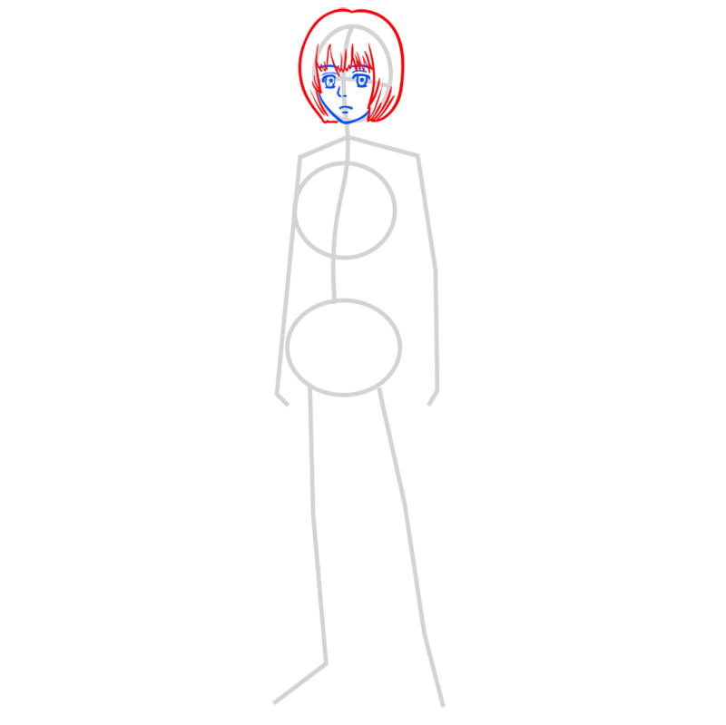 Learn easy to draw armin arlert step 03