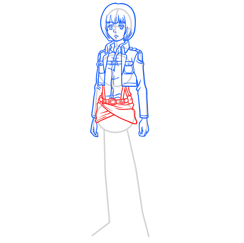 Learn easy to draw armin arlert step 07