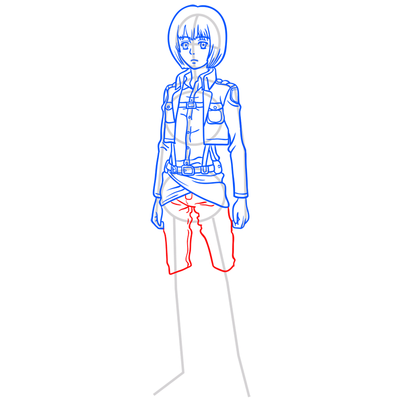 Learn easy to draw armin arlert step 08