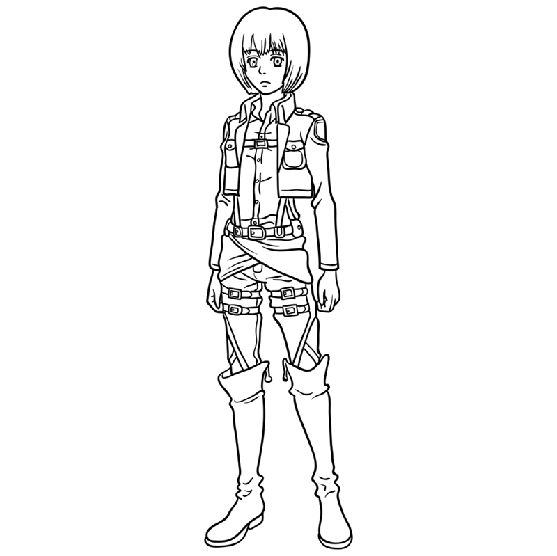 Learn easy to draw armin arlert step 11
