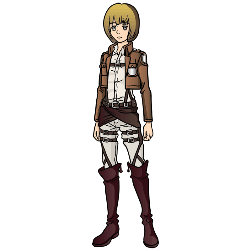 Learn easy to draw armin arlert step 12
