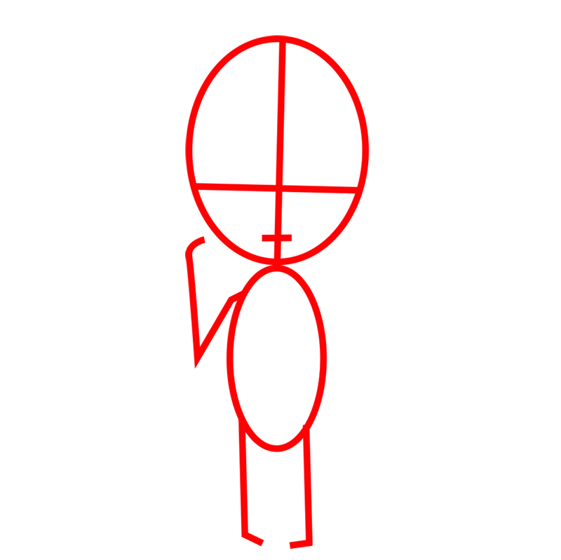 Learn easy to draw armin chibi step 01
