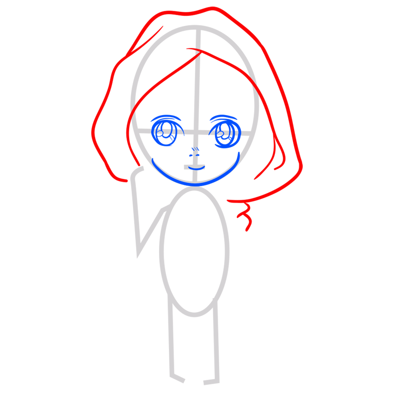 Learn easy to draw armin chibi step 03