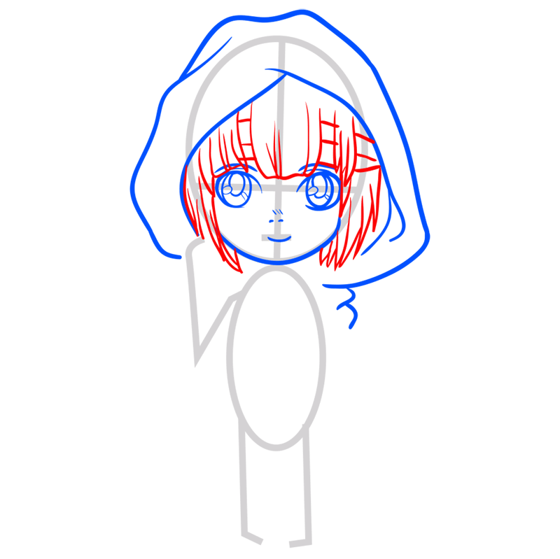 Learn easy to draw armin chibi step 04
