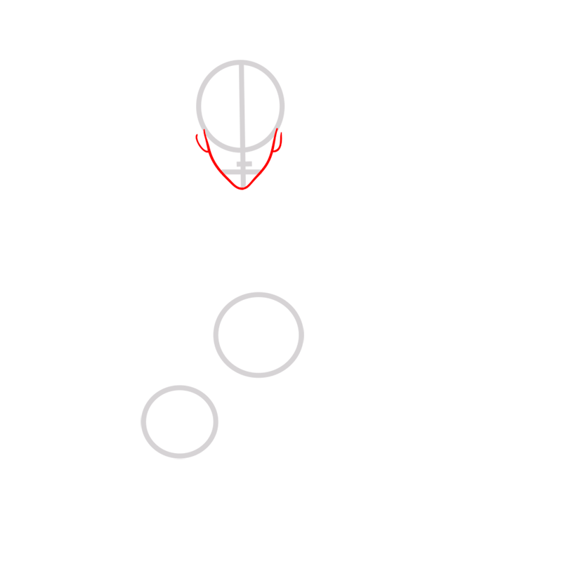 Learn easy to draw azula step 02