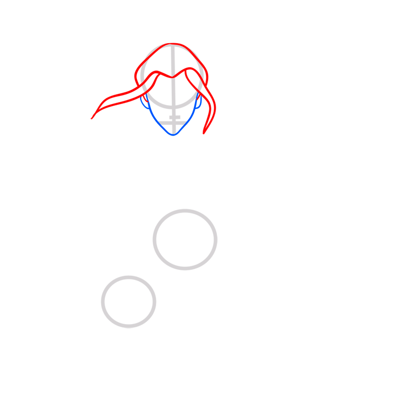 Learn easy to draw azula step 03