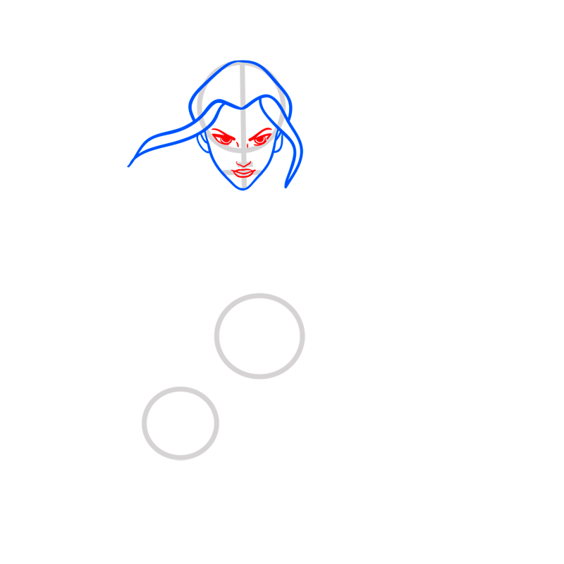 Learn easy to draw azula step 04