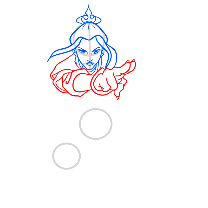 Learn easy to draw azula step 06