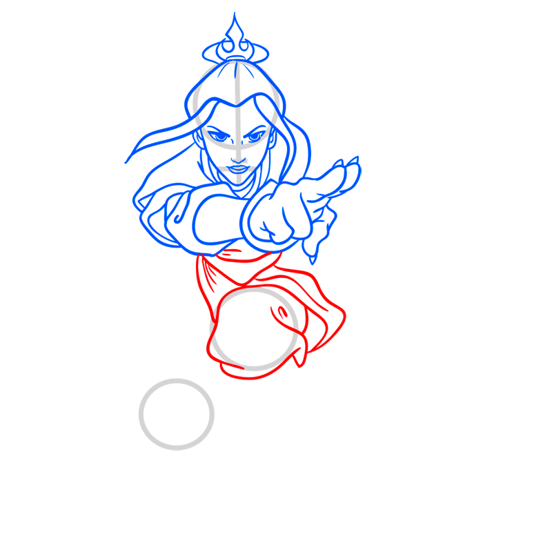 Learn easy to draw azula step 07
