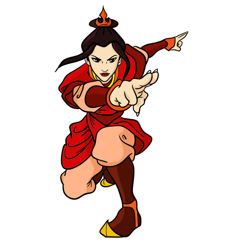 Learn easy to draw azula step 11