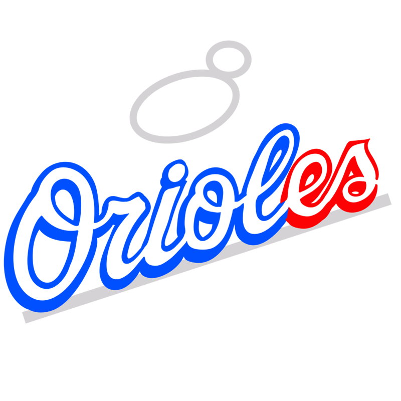 Learn easy to draw baltimore orioles logo step 05