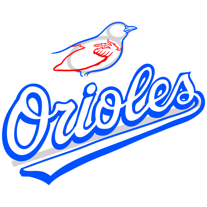 Learn easy to draw baltimore orioles logo step 08