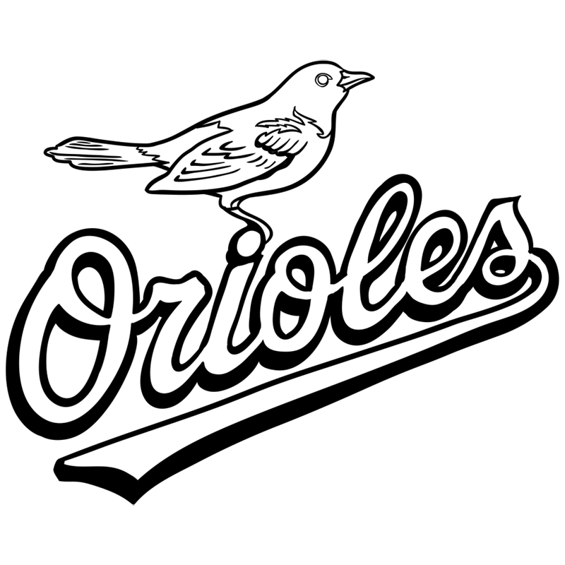 Learn easy to draw baltimore orioles logo step 11