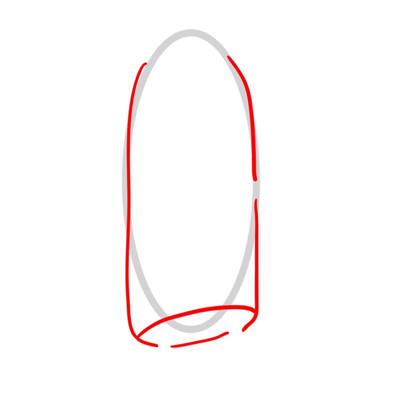 Learn easy to draw bannana guard step 02