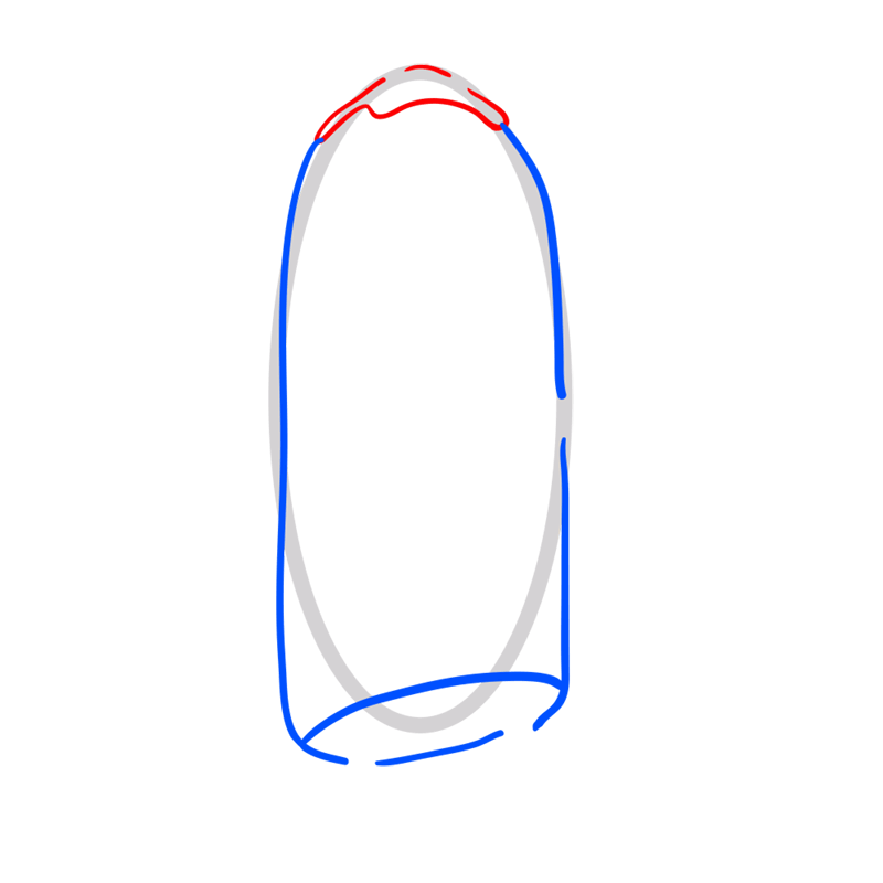 Learn easy to draw bannana guard step 03